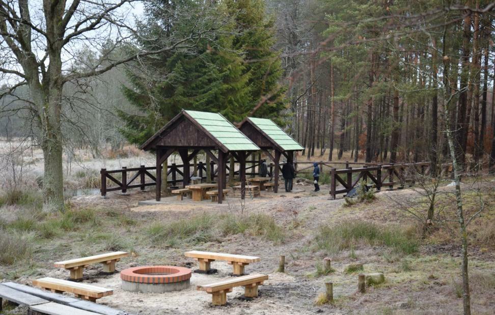 Przystań kajakowa w miejscowości Łuszczyn