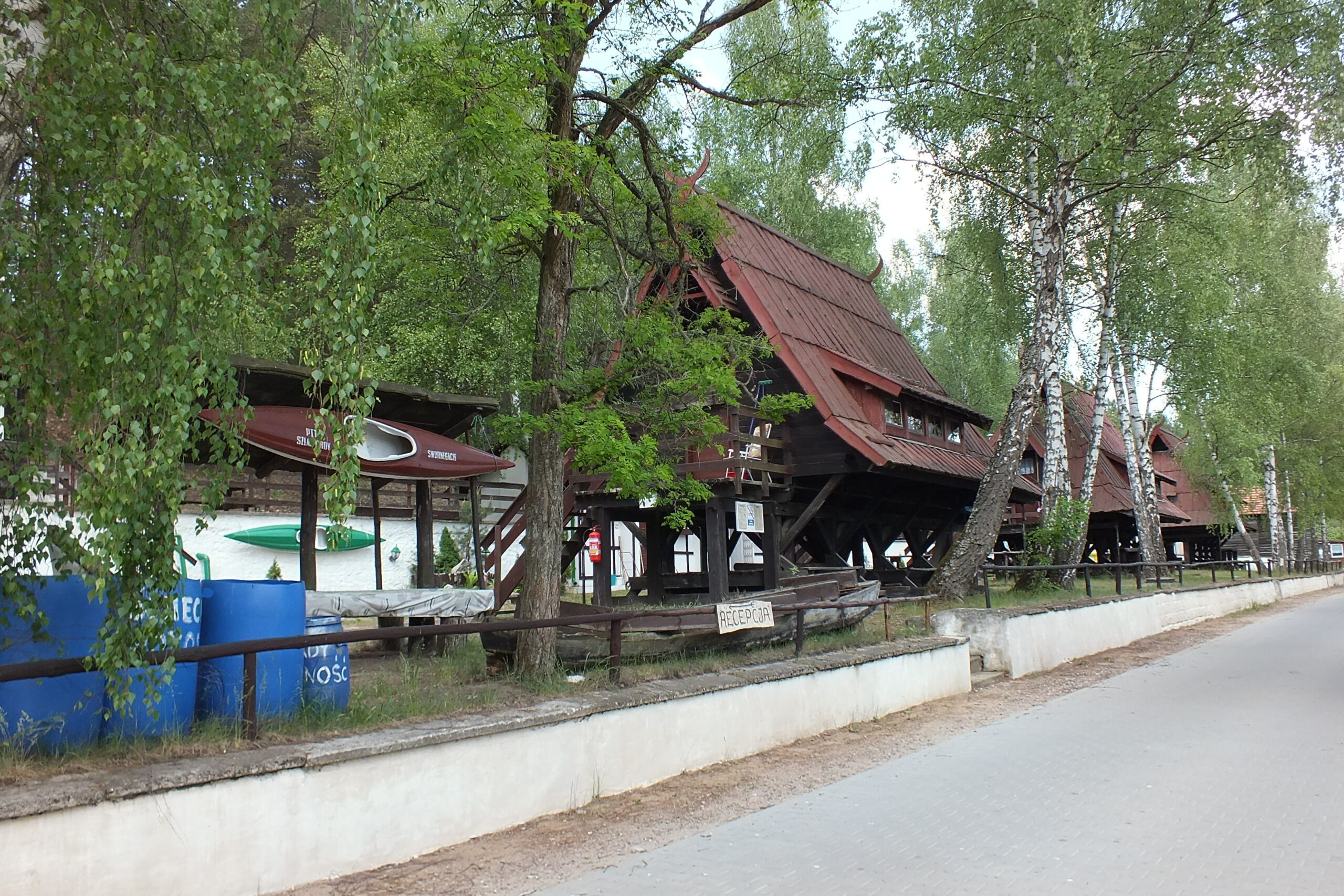 Przystań kajakowa w Stanicy Wodnej PTTK Swornegacie