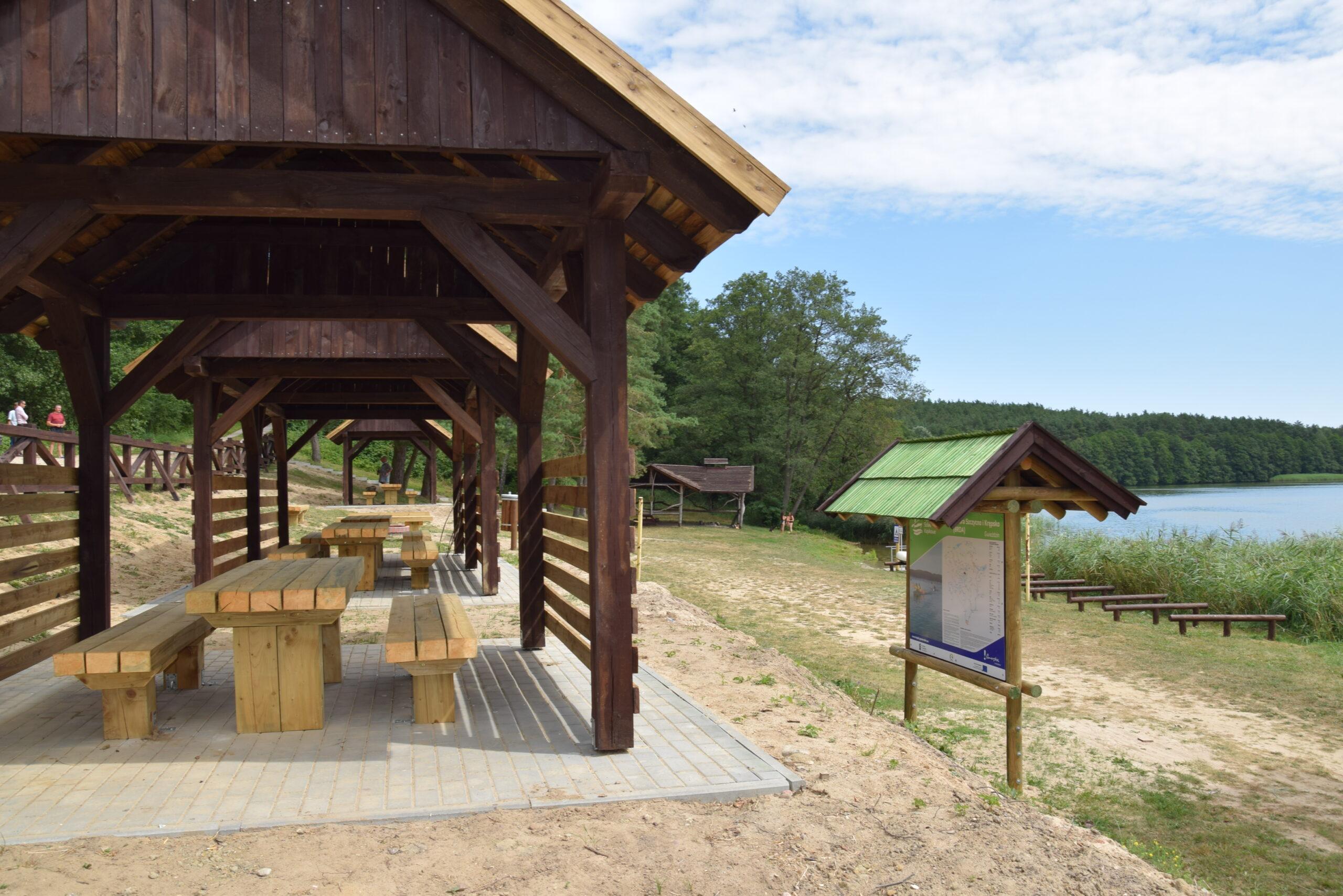 Przystań i pole biwakowe w Gwieździnie