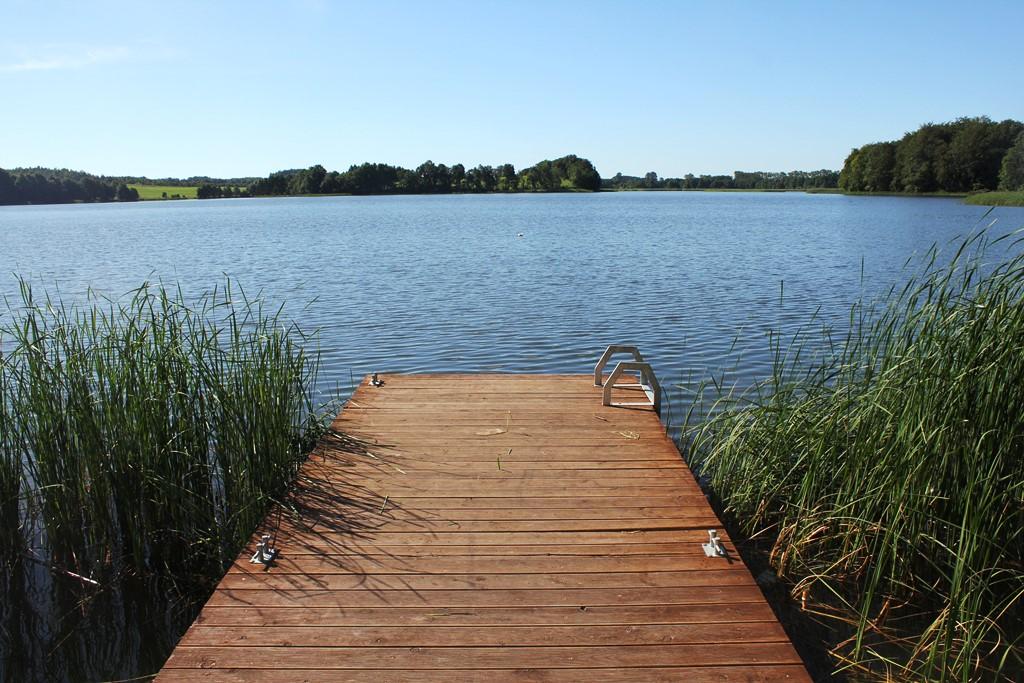 Przystań kajakowa nad jeziorem Zagnanie w Wielkim Podlesiu