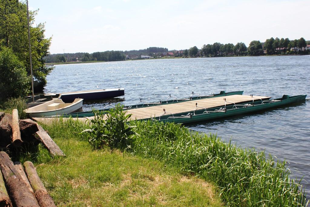 Przystań kajakowa przy moście w Swornegaciach